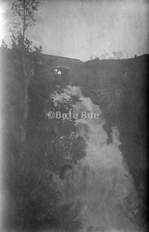 fading vintage image of a waterfall