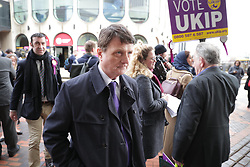 © Licensed to London News Pictures . 17/02/2018. Birmingham, UK. GERARD BATTEN arrives. The NEC of UKIP meet to decide leader Henry Bolton's fate as leader following a racism row over his girlfriend Jo Marney and controversy over his claimed qualifications whilst serving in the military . Photo credit: Joel Goodman/LNP