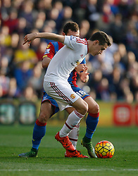 Ander Herrera of Manchester United and James McArthur of Crystal Palace (L) in action  - Mandatory byline: Jack Phillips/JMP - 07966386802 - 31/10/2015 - SPORT - FOOTBALL - London - Selhurst Park Stadium - Crystal Palace v Manchester United - Barclays Premier League