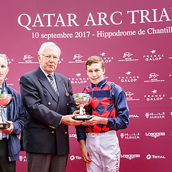 Lady Macapa (L. Morris) wins Qatar Prix Du Petit Couvert Gr. 3 in Chantilly, France 10/09/02017, photo: Zuzanna Lupa