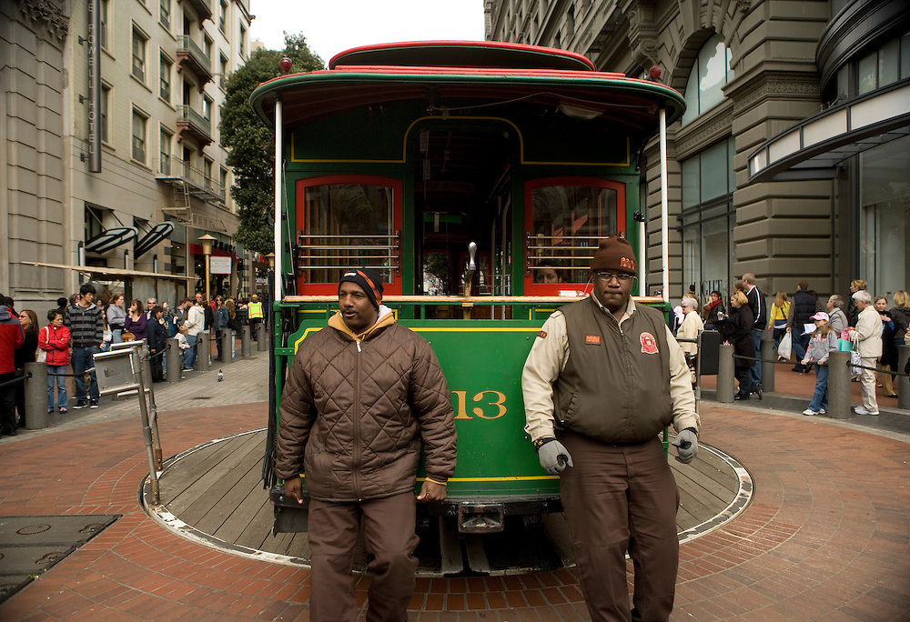 Cable cars, San Francisco, California