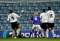 Photo: Tom Dulat/Sportsbeat Images.<br /> <br /> Millwall v Swansea City. Coca Cola League 1. 06/11/2007.<br /> <br /> Millwall's Zak Whitbread scores equalizer. 1-1. Dorus de Vries of swansea City missed to save the ball.