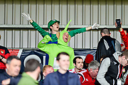 Wrexham fans in fancy dress during the Vanarama National League match between Eastleigh and Wrexham FC at Arena Stadium, Eastleigh, United Kingdom on 29 April 2017. Photo by Adam Rivers.