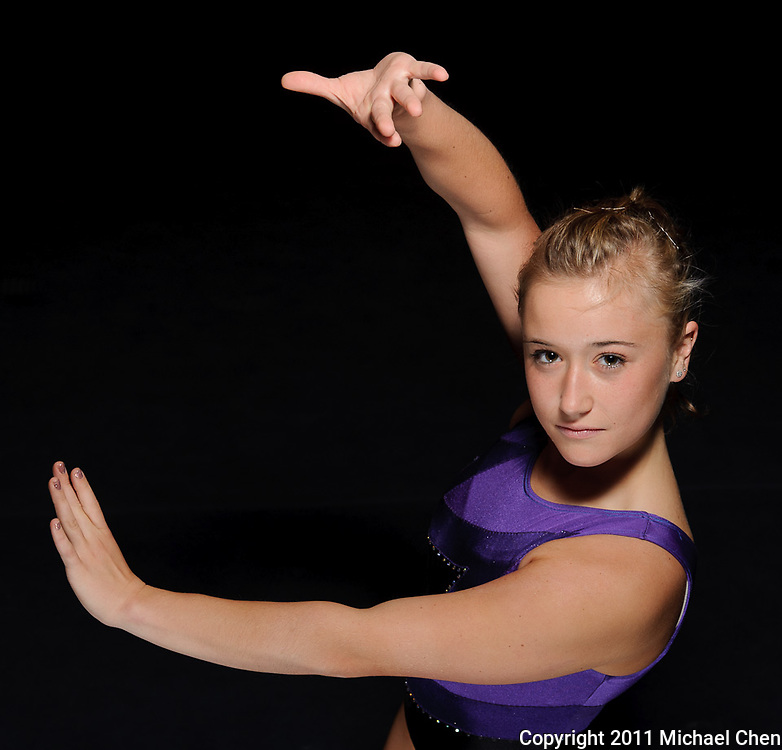 Portrait of sophomore gymnast Megan Farris at Titan Gym on the Cal State Fullerton Campus in Fullerton, Calif., shot on Saturday, April 23, 2011.  Photo by Michael Chen/SSA Lighting Luau