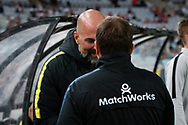 SYDNEY, AUSTRALIA - MARCH 30: Both coaches Warren Joyce and Markus Babbel before the game at round 23 of the Hyundai A-League Soccer between Western Sydney Wanderers FC and Melbourne City FC on March 30, 2019 at ANZ Stadium in Sydney, Australia. (Photo by Speed Media/Icon Sportswire)