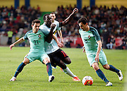 Romelu Lukaku of Belgium   pictured during the FIFA international friendly match between Portugal and Belgium as part of the preparation of the Belgian national soccer team prior to the UEFA EURO 2016  in Leiria, Portugal.