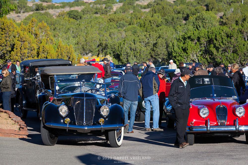 Gathering at Arroyo Vino for the Mountain Tour, part of the 2013 Santa Fe Concorso.