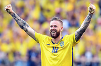 Schlussjubel Pontus Jansson (Schweden)<br /> Nischni Nowgorod, 18.06.2018, FIFA Fussball WM 2018 in Russland, Vorrunde, Schweden - Suedkorea 1:0<br /> Sverige - Syd-korea<br /> <br /> Norway only