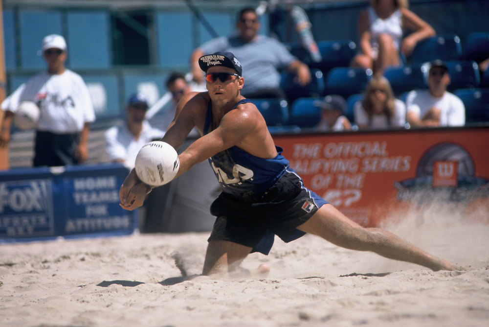 AVP Professional Beach Volleyball - San Diego CA - 1998 - Kent Steffes -  Photo by Wally Nell/Volleyball Magazine