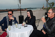 JOHN MELICK; IRENE HOFMANN; MAX PROTETCH, Absolut Art Bureau cocktails and dinner to celebrate the announcement of the 2013 Absolut Art Award shortlist. Bauer Hotel, San Marco. Venice. Venice Bienalle. 28 May 2013