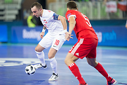 Marcin Makolajewicz of Poland during futsal match between Russia and Poland at Day 1 of UEFA Futsal EURO 2018, on January 30, 2018 in Arena Stozice, Ljubljana, Slovenia. Photo by Ziga Zupan / Sportida
