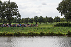 The peloton roll along the riverside at Boels Ladies Tour 2019 - Stage 2, a 113.7 km road race starting and finishing in Gennep, Netherlands on September 5, 2019. Photo by Sean Robinson/velofocus.com