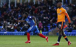 Junior Morias of Peterborough United celebrates scoring his goal - Mandatory by-line: Joe Dent/JMP - 20/01/2018 - FOOTBALL - ABAX Stadium - Peterborough, England - Peterborough United v Oldham Athletic - Sky Bet League One