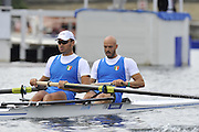 Henley, Great Britain. The Stewards Challenge Cup. Berks.  ITA M2-. Bow  Lorenzo Carboncini and NIccolo  Mornati.  Henley Royal Regatta. River Thames Henley Reach.  Friday   01/07/2011  [Mandatory Credit Peter Spurrier/ Intersport Images] 2011 Henley Royal Regatta. HOT. Great Britain . HRR
