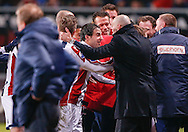 Onderwerp/Subject: FC Twente - Willem II - Eredivisie<br /> Reklame:  <br /> Club/Team/Country: <br /> Seizoen/Season: 2012/2013<br /> FOTO/PHOTO: Coach Jurgen STREPPEL (R) of Willem II celebrating the goal with Gaby JALLO (C) of Willem II and Coach Steve MCCLAREN (FRONT) of FC Twente dejected. (Photo by PICS UNITED)<br /> <br /> Trefwoorden/Keywords: <br /> #02 #03 $94 ±1355229149625 ±1355229149625<br /> Photo- & Copyrights © PICS UNITED <br /> P.O. Box 7164 - 5605 BE  EINDHOVEN (THE NETHERLANDS) <br /> Phone +31 (0)40 296 28 00 <br /> Fax +31 (0) 40 248 47 43 <br /> http://www.pics-united.com <br /> e-mail : sales@pics-united.com (If you would like to raise any issues regarding any aspects of products / service of PICS UNITED) or <br /> e-mail : sales@pics-united.com   <br /> <br /> ATTENTIE: <br /> Publicatie ook bij aanbieding door derden is slechts toegestaan na verkregen toestemming van Pics United. <br /> VOLLEDIGE NAAMSVERMELDING IS VERPLICHT! (© PICS UNITED/Naam Fotograaf, zie veld 4 van de bestandsinfo 'credits') <br /> ATTENTION:  <br /> © Pics United. Reproduction/publication of this photo by any parties is only permitted after authorisation is sought and obtained from  PICS UNITED- THE NETHERLANDS