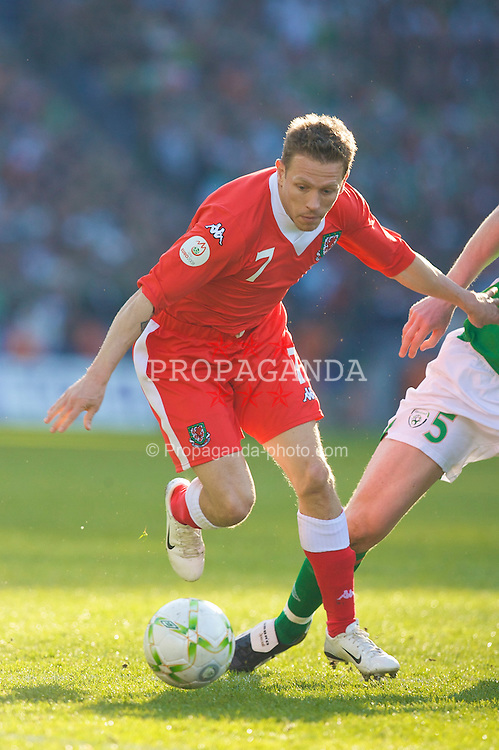 DUBLIN, REPUBLIC OF IRELAND - Saturday, March 24, 2007: Wales' Craig Bellamy in action against Republic of Ireland during the UEFA European Championships 2008 Group D qualifying match at Croke Park. (Pic by David Rawcliffe/Propaganda)