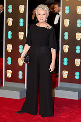© Licensed to London News Pictures. 18/02/2018. JULIE WALTERS arrives on the red carpet for the EE British Academy Film Awards 2018, held at the Royal Albert Hall, London, UK. Photo credit: Ray Tang/LNP
