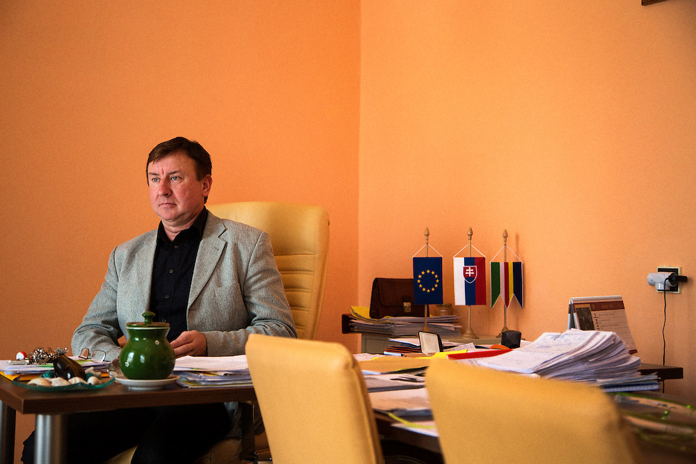 The mayor of Velka Ida Julius Beluscsák in his office.
