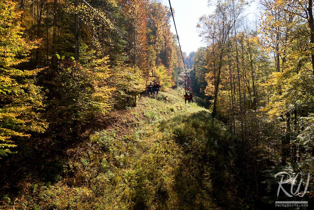 Skylift Tram Ride to Natural Bridge, Natural Bridge State Resort Park, Kentucky