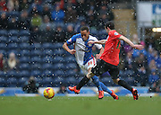 Blackburn Rovers midfielder, Elliott Bennett (31) during the Sky Bet Championship match between Blackburn Rovers and Brighton and Hove Albion at Ewood Park, Blackburn, England on 16 January 2016.