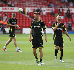 Tom Naylor of Burton Albion (C) during the warm up - Mandatory by-line: Jack Phillips/JMP - 06/08/2016 - FOOTBALL - The City Ground - Nottingham, England - Nottingham Forest v Burton Albion - EFL Sky Bet Championship