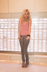 VICTORIA HART at the Recognise magaine launch party at the exclusive Swarovski Crystallized Lounge, 24 Great Marlborough Street, London on 13th April 2010.