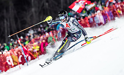 "29.01.2019, Planai, Schladming, AUT, FIS Weltcup Ski Alpin, Slalom, Herren, 1. Lauf, im Bild Andre Myhrer (SWE) // Andre Myhrer of Sweden in action during his 1st run of men's Slalom ""the Nightrace"" of FIS ski alpine world cup at the Planai in Schladming, Austria on 2019/01/29. EXPA Pictures © 2019, PhotoCredit: EXPA/ JFK"