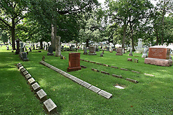 26 August 2016:  This section of the cemetery was reserved for children from the Illinois Soldiers and Sailors Children's School in Normal Illinois.  The ISSCS was a orphan home opening in 1865 for children displaced by the Civil War.  It closed for good in 1979.