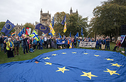 © Licensed to London News Pictures.  14/10/2017; Bristol, UK. Stop Brexit rally at College Green in Bristol, The South West & Gibraltar Rally. The organisers, Bristol for Europe, say it is the first Rally of its kind, celebrating the South West & Gibralter European Parliament Constituency and the benefits the region enjoys as part of the European Union. Exports to the EU from the South West: Exeter 70%, Plymouth 68% and Bristol 66%. The region benefits from inward investment from the EU. Infrastructure grants are particularly apparent in areas of Cornwall; investment in science and research to universities, and the contribution EU citizens make to the health services across the region. Speakers include:<br /> Mike Galsworthy, Scientists for EU <br /> Rob Davidson, Healthier In The EU <br /> Tom Brufatto, Chair Britain For Europe, <br /> Molly Scott Cato MEP for South West England & Gibraltar,<br /> Clare Moody MEP for South West England & Gibraltar,<br /> Wera Hobhouse MP for Bath, <br /> Thangam Debbonaire MP for Bristol West,<br /> Kerry McCarthy MP for Bristol East, <br /> Darren Jones MP for Bristol North West,<br /> Paul Cartwright, Gibraltar For Europe & Brex-IN,<br /> Dave Evans, Young European Movement Bristol. Picture credit : Simon Chapman/LNP