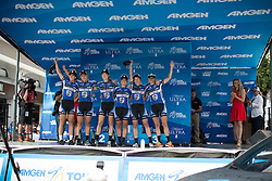 Twenty16 Ridebiker Cycling Team, the winners of the best team after the fourth, 70 km road race stage of the Amgen Tour of California - a stage race in California, United States on May 22, 2016 in Sacramento, CA.