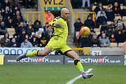 Wolverhampton Wanderers goalkeeper Carl Ikeme during the Sky Bet Championship match between Wolverhampton Wanderers and Derby County at Molineux, Wolverhampton, England on 27 February 2016. Photo by Alan Franklin.