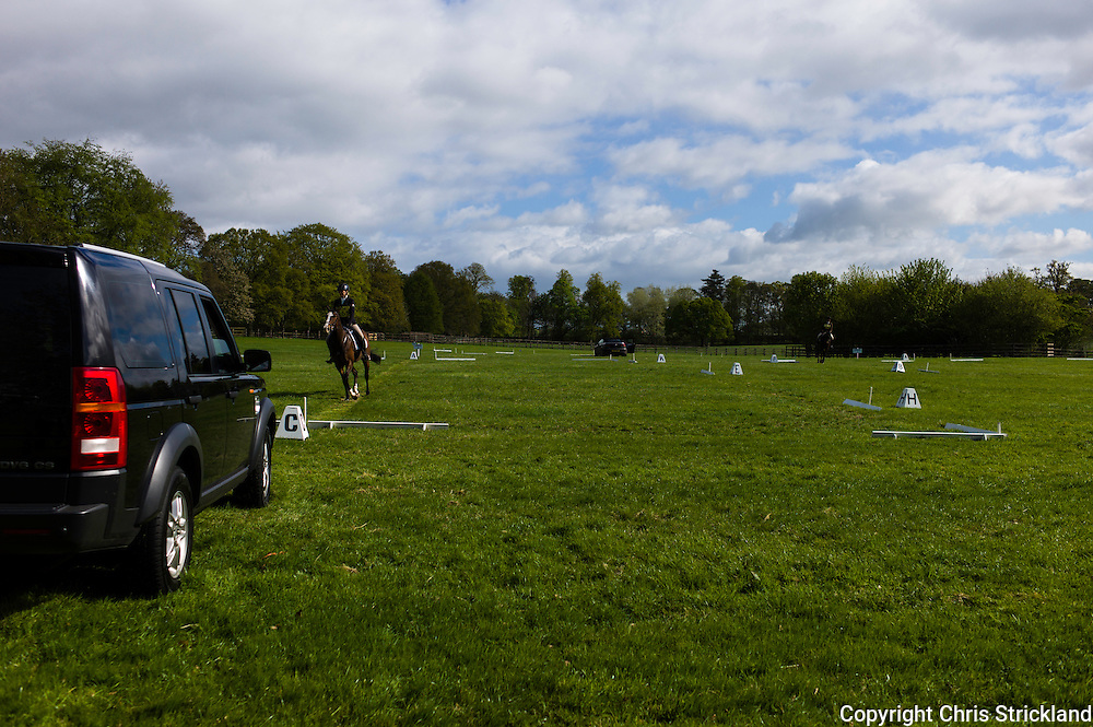 Floors Castle, Kelso, Roxburghshire, UK. 16th May 2015. Horses in action during the Floors Castle International Horse Trials in the parkland of Roxburghe Estate in the Scottish Borders.