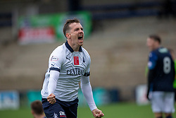 Falkirk's Louis Longridge celebrates after scoring their first goal. Raith Rovers 2 v 2 Falkirk, Scottish Football League Division One played 5/9/2019 at Stark's Park, Kirkcaldy.