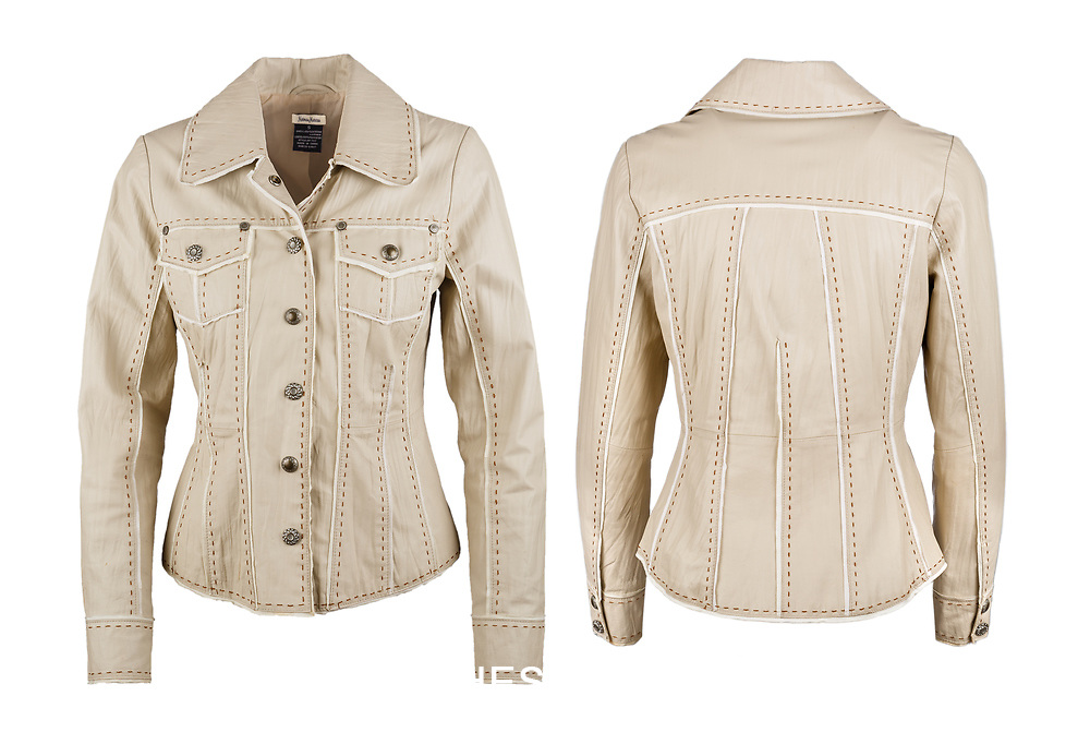 Ladies Leather Jacket Front and Back