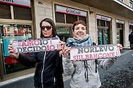 Roma 4 Marzo 2014<br /> Questa mattina a Roma un gruppo di attiviste e giovani donne ha occupato la sede dell'Ordine dei Medici, perch&eacute; l'aborto deve essere libero, gratuito e garantito, e contro i medici obbiettori.<br /> Rome, March 4, 2014 <br /> This morning in Rome, a group of activists and young women occupied the headquarters of the Order of Physicians, why should abortion be free, free and guaranteed and against doctors objectors.The protesters are demanding that &quot;morning after&quot; birth control pill That can precaution prevent pregnancy after unprotected sex , It can be easy to find.
