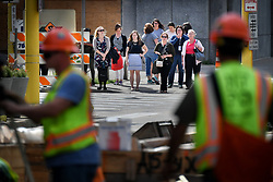 June 26, 2017 - Minneapolis, Minnesota, USA - Afternoon commuters walked down 5th Street to the USBank Stadium light rail line which in closed for reconstruction in downtown Minneapolis until July 3.     ] GLEN STUBBE • glen.stubbe@startribune.com Monday June 26, 2017 (Credit Image: © Glen Stubbe/Minneapolis Star Tribune via ZUMA Wire)
