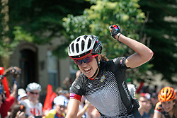 Evelyn Stevens of USA's Specialized - Lululemon team took first place in the Women's Pro Race of the Philly Cycling Classic on Sunday.<br /> <br /> Scenes from the 2011-2014 Philadelphia International Bicyling Classic #ManayunkWall Bike Race, traditionally held in the first week of June. (photo by Bastiaan Slabbers/BasSlabbers.com)<br /> <br /> For license options of Philadelphia International Cycling Classic related imagery please visit my editoiral stock portfolio at Getty Images/iStock.com: istockphoto.com/portfolio/basslabbers