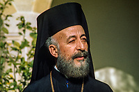 Archbishop Makarios, born 13 August 1913 -  died 3 August 1977, was born Mihail Christodoulou Mouskos, elected Archbishop of Cyprus 18 September 1950. He was elected the first president of Cyprus serving from 16 August 1960  until 15 July 1974. This photo was taken in February 1971. 197102000099AM2..Copyright Image from Victor Patterson, 54 Dorchester Park, Belfast, UK, BT9 6RJ..Tel: +44 28 9066 1296.Mob: +44 7802 353836.Voicemail +44 20 8816 7153.Skype: victorpattersonbelfast.Email: victorpatterson@mac.com.Email: victorpatterson@ireland.com (back-up)..IMPORTANT: If you wish to use this image or any other of my images please go to www.victorpatterson.com and click on the Terms & Conditions. Then contact me by email or phone with the reference number(s) of the image(s) concerned.