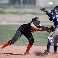 Window Rock Scout Rochelle Begaye (12) tries to dodge a tag from Gallup Bengal LeiLani Yermen (5) Tuesday at Gallup High School.