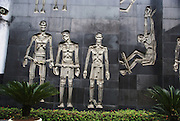 "Hanoi, Vietnam, Hoa Lo Prison, was a prison used by the French colonists in Vietnam for political prisoners, and later by North Vietnam for prisoners of war during the Vietnam War when it was sarcastically known to American prisoners of war as the ""Hanoi Hilton""."