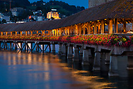 Kapellbrucke bridge, Lucerne, Switzerland