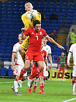 Football - 2019 / 2020 International Friendly - Wales vs. Belarus<br /> <br /> Maskim Plotnikov of Belarus series Joe Allen of Wales , at Cardiff City Stadium.<br /> <br /> COLORSPORT/WINSTON BYNORTH