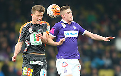 19.03.2016, Generali Arena, Wien, AUT, 1. FBL, FK Austria Wien vs RZ Pellets WAC, 28. Runde, im Bild Daniel Drescher (RZ Pellets WAC) und Marko Kvasina (FK Austria Wien) // during Austrian Football Bundesliga Match, 28th Round, between FK Austria Vienna and RZ Pellets WAC at the Generali Arena, Vienna, Austria on 2016/03/19. EXPA Pictures © 2016, PhotoCredit: EXPA/ Thomas Haumer