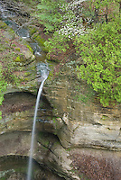 Waterfall in Coyote Canyon of Starved Rock State Park Illinois USA