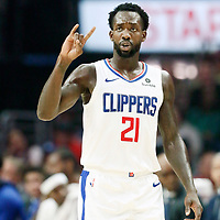 LOS ANGELES, CA - OCT 28: Patrick Beverley (21) of the LA Clippers is seen during a game on October 28, 2019 at the Staples Center, in Los Angeles, California.