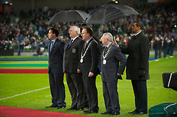 DUBLIN, IRELAND - Tuesday, February 8, 2011: Wales' President Phil Pritchard before the opening Carling Nations Cup match against the Republic of Ireland at the Aviva Stadium (Lansdowne Road). (Photo by David Rawcliffe/Propaganda)
