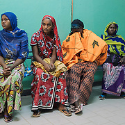 Fistula patients waiting in line for surgery. Kayes Hospital, Mali.