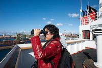 Taranto, 11 ottobre 2011.Visita presso la nave mercantile Danese GO CRACHT..Apulia Film Commission.Apulia Audiovisual Workshop Puglia Experience