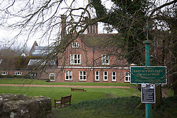 © London News Pictures. 17/3/2013. Main entrance to HM Prison East Sutton Park which is a women's open prison and Young Offenders Institution, located in the village of East Sutton, in Kent, England. Vicky Pryce has reportedly been moved to the open prison in Kent days after being jailed over a speeding points scam with her ex-husband and former cabinet minister Chris Huhne. Picture credit should read Manu Palomeque/LNP