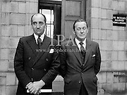 District Justices, Desmond O'Hagan, Co. Louth, and Kevin McCourt, Co. Cork, are sworn in.<br /> 24.03.1961